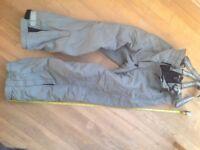 SALOPETTES - ski/board, grey, Childs, size 158
