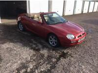 NOW REDUCED Mgf in night fire red with cream leather interior. Triptronic gearbox