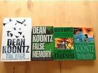 Dean Koontz Paperback Books 30p each or £1 for all 4 – titles listed below