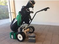 Powakaddy Golf Trolley with 2 Batteries and charger.