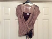 Next lace evening top - size 12