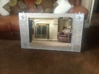 Free uk postage now £99 very large bling Modern wall mirror