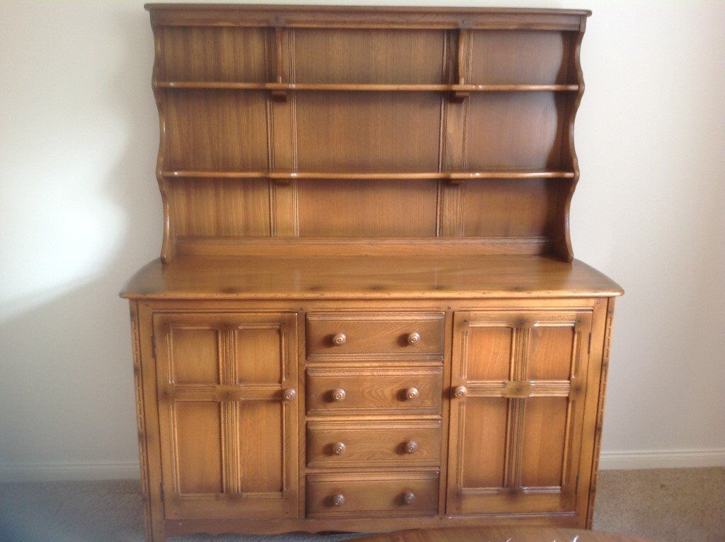 Ercol Colonial Dining Room Suite Incl Large 4 Draw Dresser As New