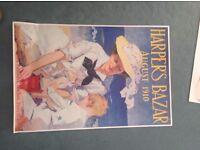 HARPER'S BAZAR August 1910 Vintage poster for Sale