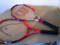 2 children's tennis rackets in good condition