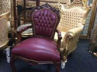 Fabulous French style faux leather chair