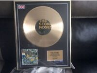 Stone roses limited Edition gold disc