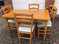 Rectangular Dining Room Table and 4no Chairs
