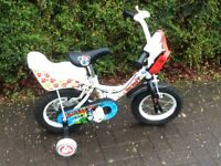 Bicycle,1st for 3-5 yr old with free matching helmet and support wheels