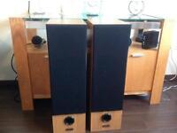 Heybrook Optima 75w floor standing speakers