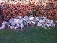 Garden rocks for rockery