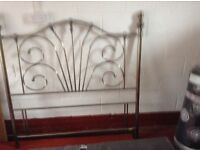 Silver coloured metal Bedstead for a double bed