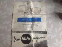 1960's ALDIS Slide Projector in good working order