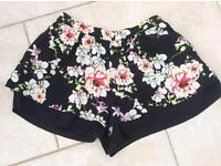 River Island Ladies Floral Shorts, Size S