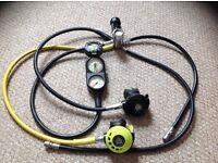 Apeks ATX40 regulator set in excellent condition
