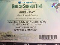 Green Day British Summer Time Tickets