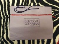 Bergdorf goodman NYC 1st luxury department store large carrier bag