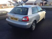 2002 AUDI A3 1.9 TDI. 1 owner from new