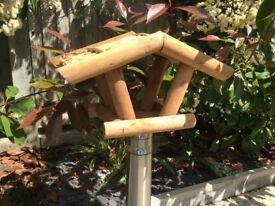 Wooden Bird House Feeder, Hand-Made and Designer