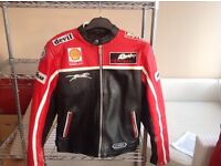 Retro style motorcycle leather jacket
