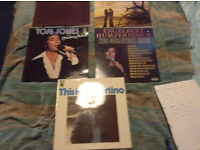 A collection of lps from the 60s and 70s including Tom jones, carpenters Engelbert Humperdinck