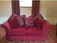 Claret 2 & 3 seater chunky sofas