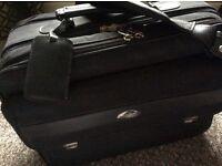 SAMSONITE BAG....... black, shoulder strap, zips, locks