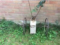 Vintage seed drill