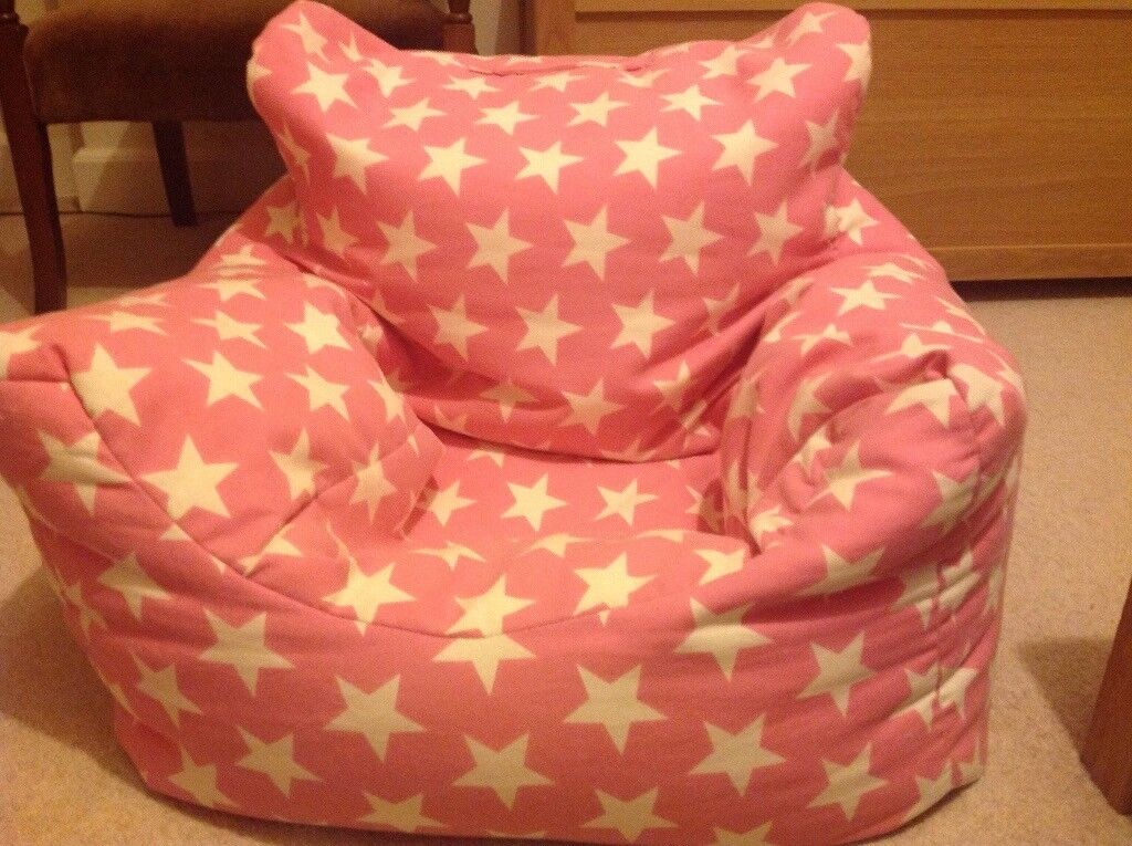 GLTC kids pink beanbag seat - used but in great condition
