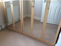 5 door wardrobe ( with mirrors)
