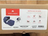 MACLAREN TECHNO XLR CARRYCOT MEDIEVAL BLUE BRAND NEW IN BOX