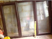 Double glazed windows Brown PVC
