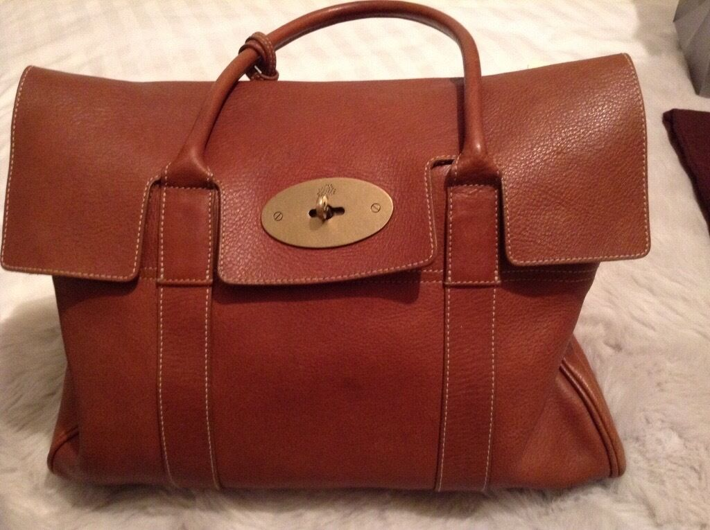 Genuine Mulberry Bayswater, large veg tanned bag, in Oak bought in Mulberry,  Edinburgh f2ae0d3bc6