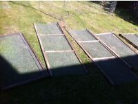 High quality meshed panels that could make an ideal chicken, guinea pig or rabbit run.