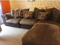House clearance (6 piece corner sofa + Indian wood dining table)