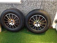 "Set of 4 Fox 16"" alloys and Bridgestone tyres"