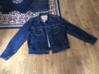 Levi blue denim jacket L