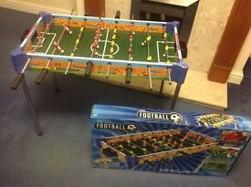 Football table for boys Age 6+. Hardly used