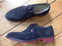 Brown suede shoes, men's size 44.