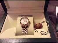 Ladies Rolex Rare double row diamond bezel watch