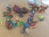Xbox 360 skylander game and lots of characters