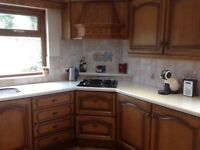 Kitchen for sale with one appliance, gas hob in perfect working order.