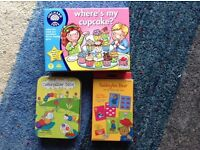 Kids' Games for under 5s, in near perfect condition. Where' s my Cupcake, Paddington, Caterpillar