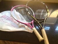 Tennis rackets - junior 52cm & 63cm
