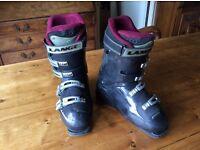 Ladies black Lange ski boots size 25.0 ( U.K. 5.5 shoe)