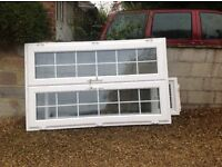WHITE PVC-u D/G FRENCH DOORS AND SIDELIGHT