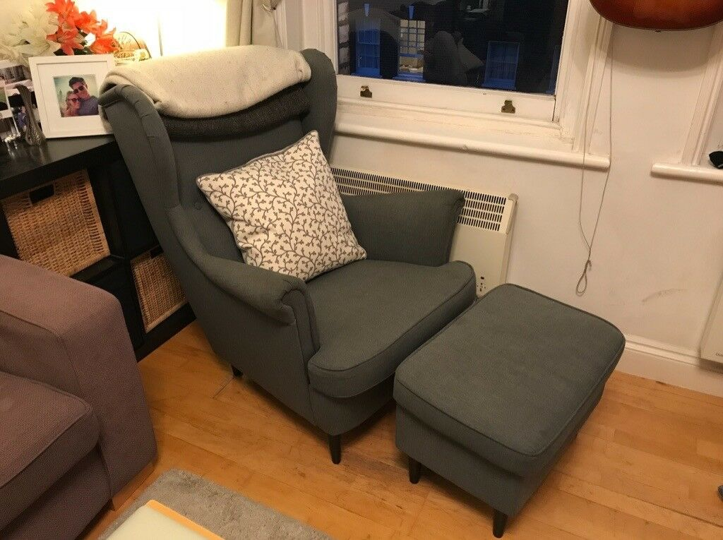Peachy Ikea Strandmon Wing Chair Nordvalla Dark Grey In Paddington London Gumtree Theyellowbook Wood Chair Design Ideas Theyellowbookinfo