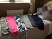 Ladies trousers new denim shorts and new cold shoulder dress