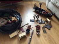 Bag full of great pirate boat parts to have hours of imaginative fun play with