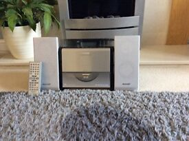 Panasonic CD player with built in DAB radio - silver/grey